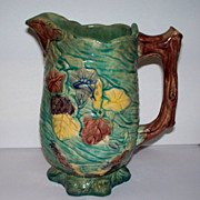 Antique Majolica Pitcher