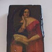 Antique Papier Mache Snuff Box   ca. 1880s