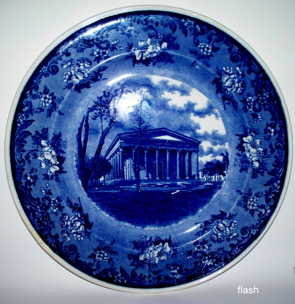 "Minton ""Girard College""  Wright, Tyndale & Van Roden Plate  ca.1895"