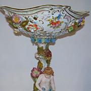 Dresden Carl Thieme Porcelain Compote   circa 1900