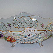 Dresden Carl Thieme  Center Bowl Basket   circa 1900