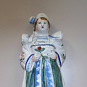"French Faience  ""Brittany""  Girl  Bell"