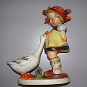 "Lovely Hummel ""Goose Girl"" TMK 2 Full Bee #47/2 .. 7 1/2"" Tall!"