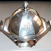 Antique Wilcox Silverplate Co. Octagon-Shaped  Butter-Dish