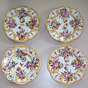 Four Antique Choisy Le Roy Rococo-Style Plates    1786-1886