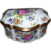 Antique Huge French Porcelain Rococo 'Choisy Le Roy'  Box circa 1800s