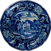 "Antique Enoch Wood & Sons Burslem ""Luscombe Devon"" Grapevine Series Plate 58 in all: circa 1820"