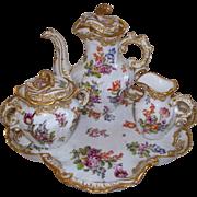 Antique 'Bourdois & Bloch' 'Achille Bloch'  Paris de Porcelaine Rococo Tea Set.. ca. 1880