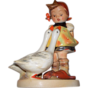 "Hummel 'Goose Girl' Rare Crown Mark TMK #1 #47/0  ca.1936-1946 5.5"" high"