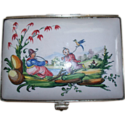 "Antique French Faience Edme Samson et Cie ""Veuve Perrin"" Large Dresser Chinoiserie Box  ca. 1865"