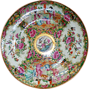 Magnificent Antique Chinese Medallion Famille Rose deep large Bowl /Plate
