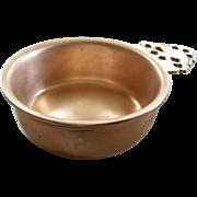 Rare Colonial Williamsburg & Virginia Metalcrafters Co. Bronze/Copper Bowl..  1970 circa