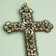 Victorian Austrian Hungarian Enamel Cross