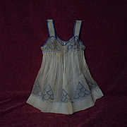 Superb All Original  antique 19th century Pinafore Museum Quality for german french huge bisque doll