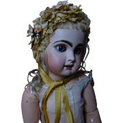 """Beautiful doll Hat amber soft Straw for 21"""" antique german french bisque doll"""