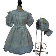 Beautiful Spring Dress Bonnet for german bisque huge doll