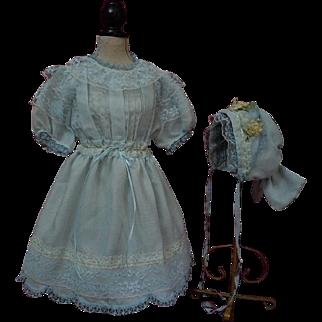 Beautiful Spring Dress Bonnet for german bisque huge doll