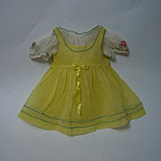 All Original Old organdy Dress Camisole Blouse Panties for antique composition bisque baby toddler doll