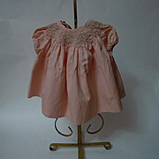 All Original Old Vintage smocked dress for composition bisque baby toddler doll