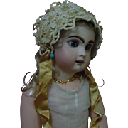Beautiful Old middle century Daisies doll Headdress Hat for antique german french bisque doll