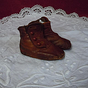 All Original Antique leather Booties for french Bebe Jumeau Steiner doll