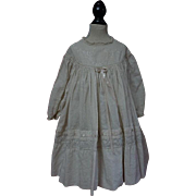 Original Antique 19th century Embroidered batiste Dress for antique german french bisque huge doll