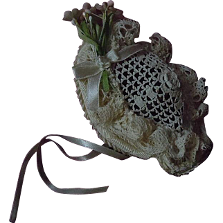 Lovely tiny Hat millinery flowers for antique french Bleuette cabinet sized doll