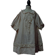 Original Antique batiste Dress for german french  Huge bisque doll