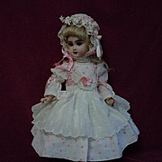 Wonderful French Bebe Dress Bonnet for antique Jumeau Steiner cabinet size doll