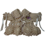 Lovely wool silk Sweater for baby compo german french bisque cabinet size doll