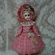 Gorgeous organza Couturier Costume Dress w/ petticoat  and Hat for french bebe Jumeau Steiner Eden Bru doll