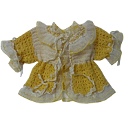 All Original Antique Sunshine wool Sweater for baby compo german french bisque doll or antique Bear