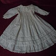 """Antique Batiste Dress for 27"""" to 29"""" huge bisque doll"""