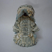 Wonderful tiny french Bebe Costume Dress Hat for antique Bleuette sized bisque doll