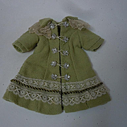 Gorgeous tiny french Bebe Coat and Hat for antique Bleuette sized doll