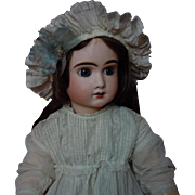 Lovely cotton linen Cap for french bebe Jumeau Steiner doll