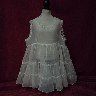 Beautiful All Original 1940's organza Petticoat 2 layers for huge bisque doll