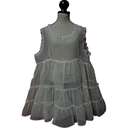 Beautiful All Original 1940's organza factory 2 layers Petticoat for huge bisque doll