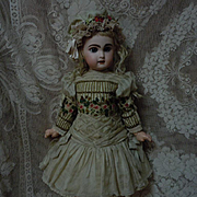Superb Ribbon embroidery Silk Couturier Costume Dress Cap for french bebe Jumeau Steiner Bru doll