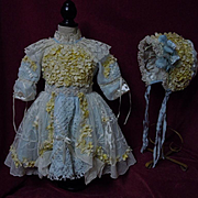 Couturier Costume Dress w/ Petticoat Hat Basket fit for 23 to 25 inches doll