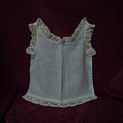 Beautiful All Original Antique muslin Camisole for huge bisque doll