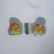 Adorable Pair Knit Dolbooties  1940's with Original Label   for 10-12 inches doll
