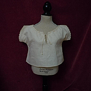 All Original 19th Century Antique linen Camisole for french bebe Jumeau Steiner Eden doll