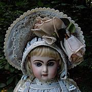 Beautiful Taffeta Dress Capelet Hat For french bebe doll