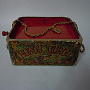 Vintage Hurdy Gurdy musical toy made by Mattel Rutledge circus design