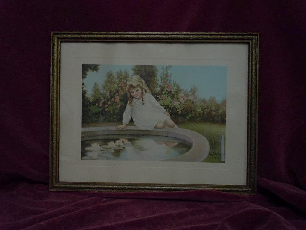 Beautiful Vintage Golden Hours framed Print by Henry F. Wireman