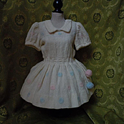 Lovely All Original old woolen dress for huge doll