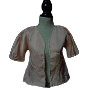 Charming Old pure silk lined Jacket 1920's for antique french bebe doll