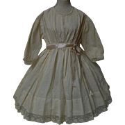Antique batiste Dress for french bebe Jumeau Steiner huge doll