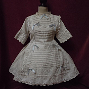 Original Antique whitework Dress Ayrshire embroidery fit for 23 to 25 inches  french bebe Jumeau Steiner doll